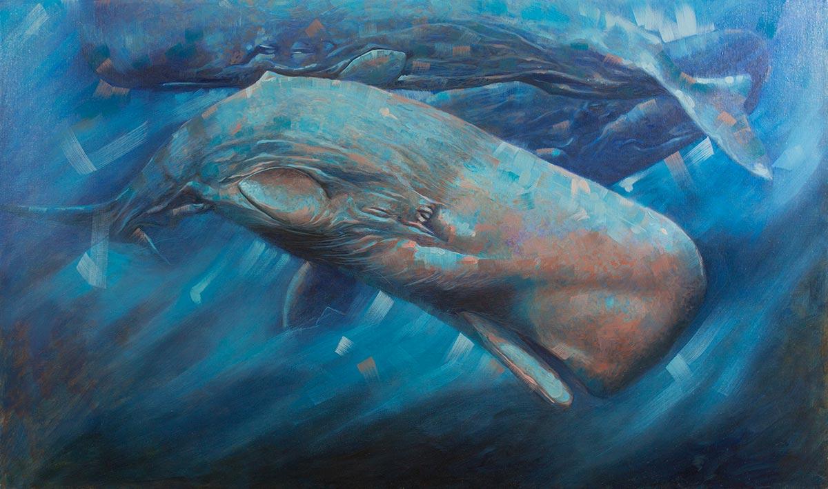 """mediterraneo"" – olio su tela – 120×70 – 2017"