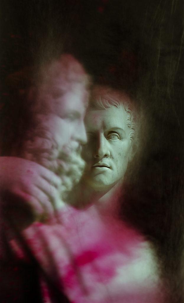 """""""Pietra: #5 - Giovanni Ceccarini, Antonio Canova sedente in atto di abbracciare l'erma fidiaca di Giove"""""""