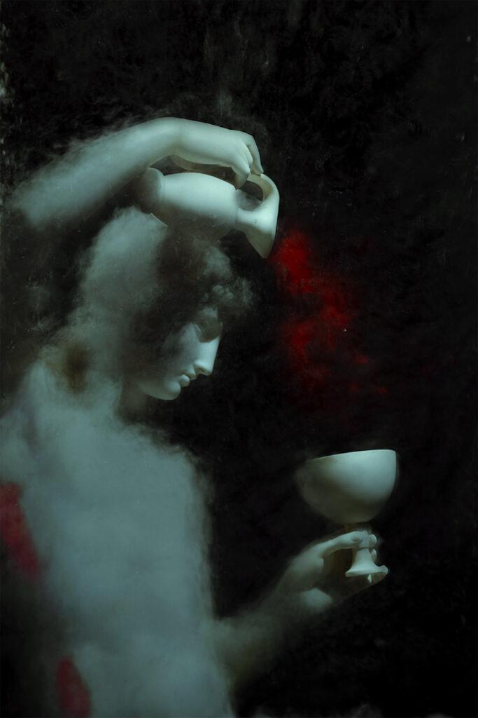 """pietra #6 - Ganimede che riempie la coppa - Bertel Thorvaldsen"""